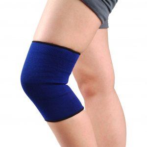 Genunchiera elastica Dr Sport. Produsul contine elastic natural