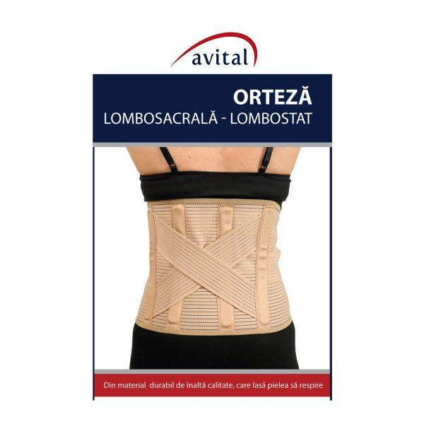 Lombostat/Orteza lombosacrala , confectionat din material elastic
