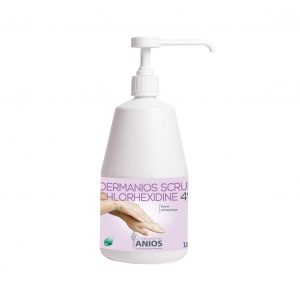 Săpun antiseptic pentru spălarea igienică şi chirurgicală a mâinilor DERMANIOS SCRUB CHLORHEXIDINE 4%