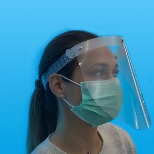 Mască cu vizieră de protectie pentru fată reglabilă din plastic